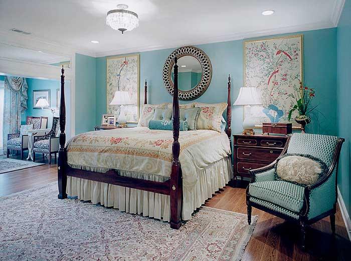 Мебель для голубой спальни