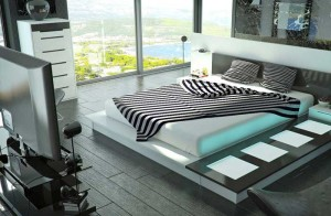 Спальни в стиле хай-тек с фото — динамика современной жизни