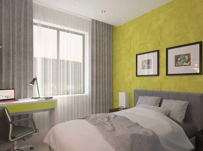 Зеленая спальня 9 м