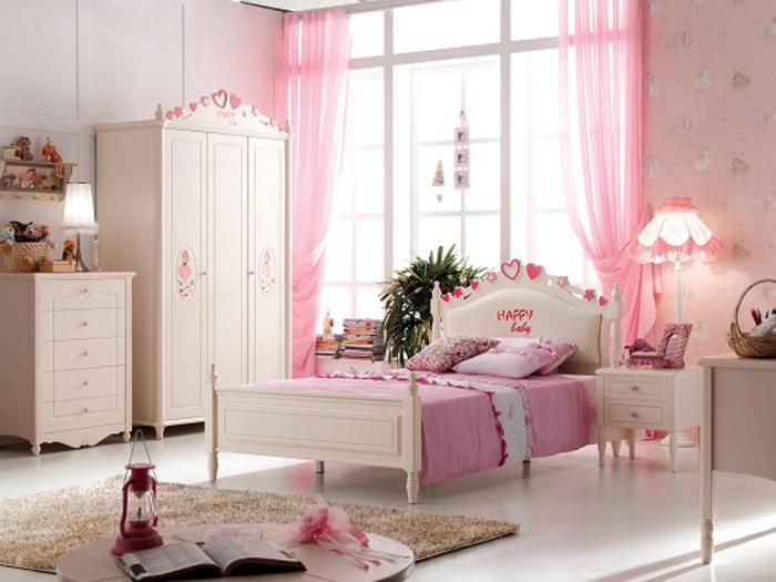 Розовая спальня для девочки
