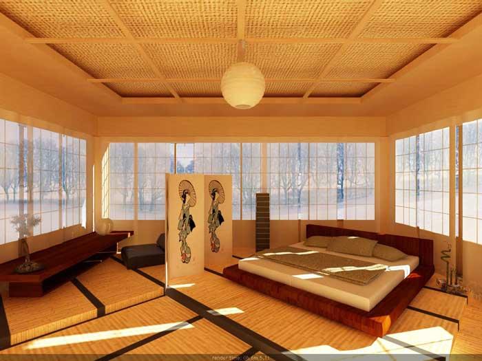 Мебель для японской спальни