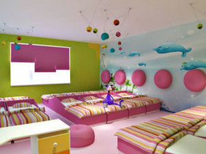 Спальня в детском саду — оформление интерьера