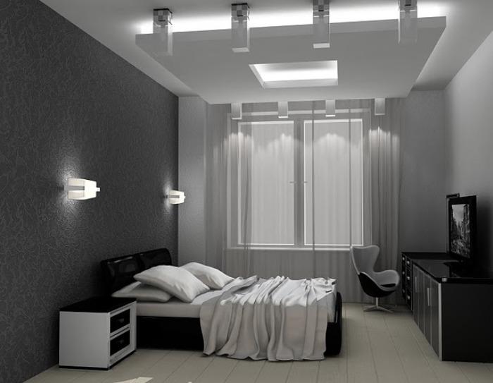Фото спальни в серых тонах
