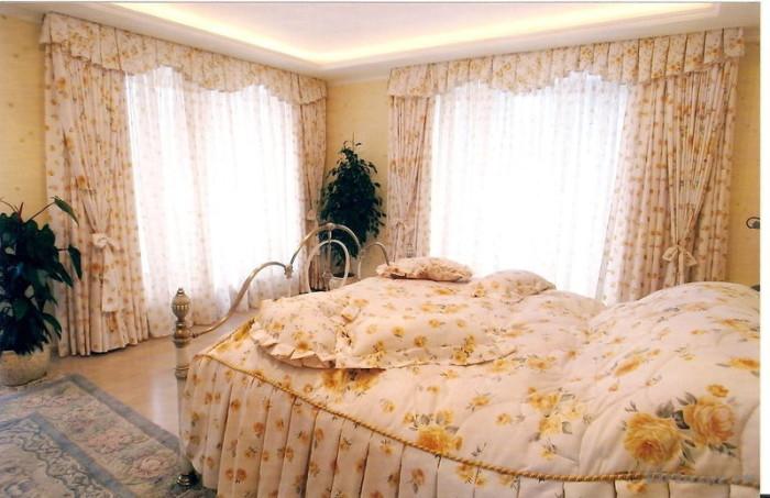 ламбрекен для спальни