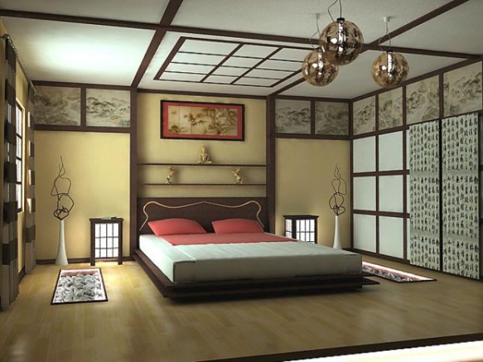 декор в спальной комнате