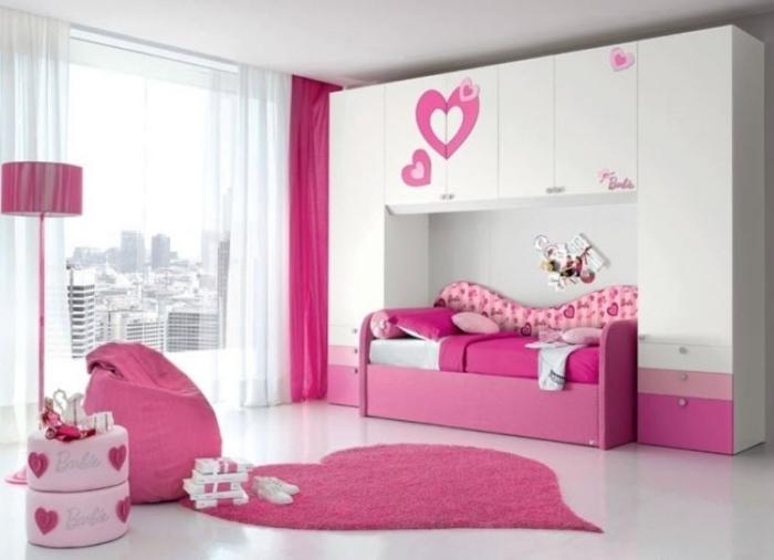 mädchenzimmer-möbel-ideen-rosa-weiß-BARBIE-PONTE-TRENDY-doimo-cityline