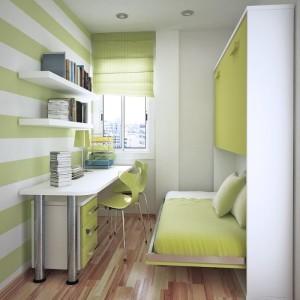 Дизайн интерьера узкой спальни