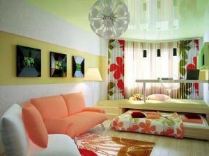 Зал и спальня в одной комнате — секреты обустройства