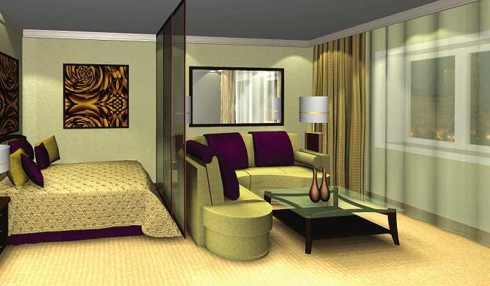 Мебель в зале-спальне