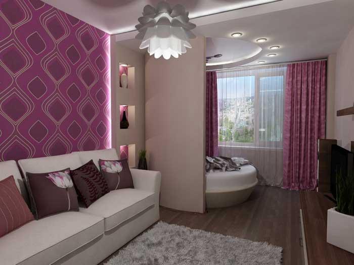 Зал и спальня