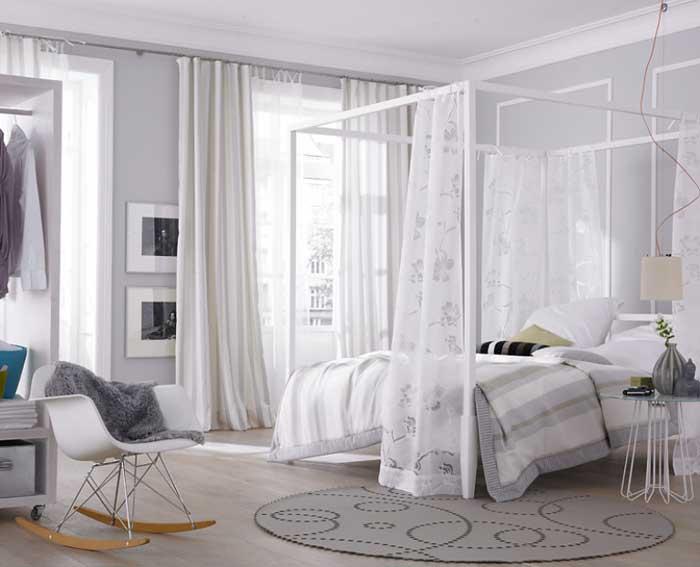 Дизайн занавесок в спальне