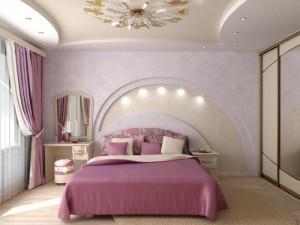 Дизайн спальни прямоугольной формы