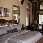 Спальня в коричневых тонах с фото