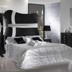 Черно-белая спальня — дизайн интерьера
