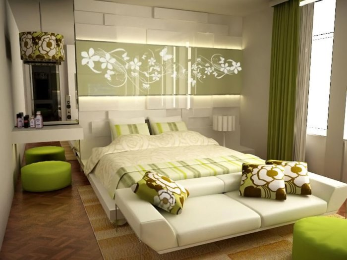 natural-green-bedroom-with-retro-floral-designs-with-sightly-concept