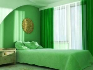 Зеленая спальня — секреты дизайна интерьеров