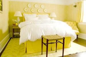 Желатая спальня — секреты дизайна