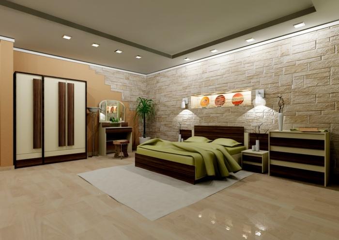 Оливковый цвет в интерьере спальни - фото и обзор