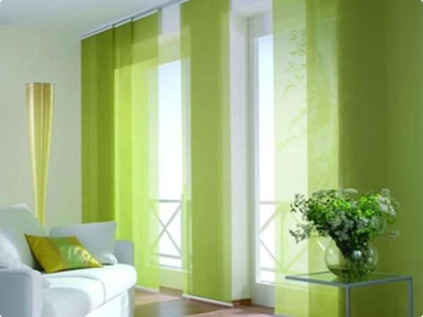 Японские шторы в комнате