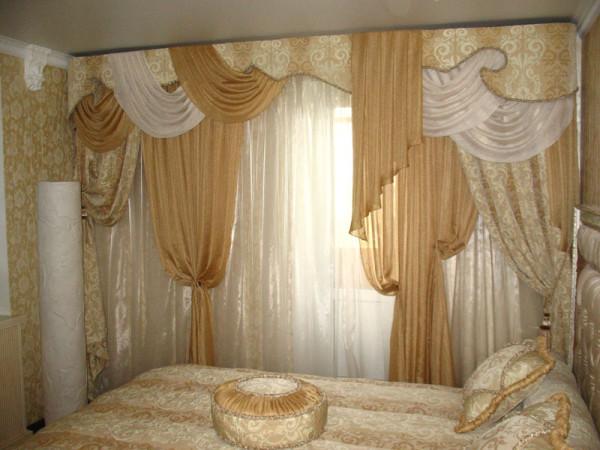 Шторы и тюль в спальне