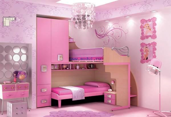 Декор спальни для двух девочек