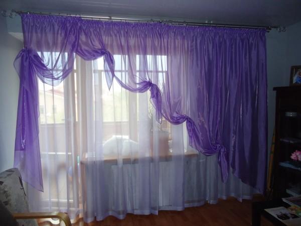 Тюль и шторы в спальне