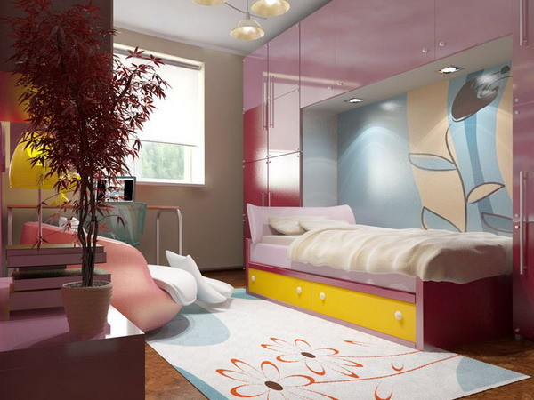 Интерьер спальни для девушки подростка