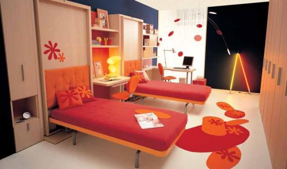 Дизайн спальни для двух девочек